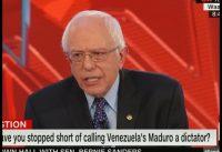 Bernie Sanders se rehúsa a llamarle DICTADOR a Maduro.-