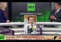 La *PREGUNTA* de _RT_ al Chavismo: Porqué no esta PRESO Juan Guaidó???