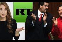 La Rubia de RT con Maduro *vs* La Realidad.-