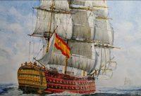 Más allá: la bandera Española y el lema de la Hispanidad.-