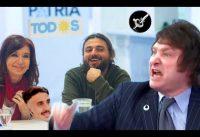 La *reacción* de Milei ante propuestas de un PROTOTIPICO sindicalista de izquierda.-