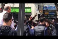 Jordi Cañas furioso con grupete de fachiantifas-okupas-escrachadores en Madrid.-