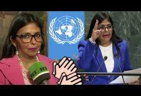 "Periodista en la ONU a Ministra Chavista: ""GRACIAS por ser la RESISTENCIA ANTI-CAPITALISTA!"""