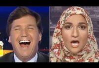 Periodista PRO-TRUMP VS Musulmana PRO-ANTIFA.-