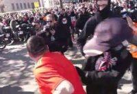 Tenian que estar: Niños Antifa Acuden fielmente a la Manifestación de Vox en Barcelona.-