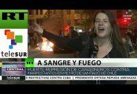 "Asi es la cobertura de Telesur ""la RT de Maduro"" sobre la crisis en CHILE.-"