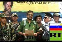 """Chavistas y RT justifican la vuelta a las armas de las Farc en COL: """"No tenian otra opción!"""""""