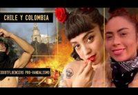 IdiotFluencers a favor del vandalismo en Chile y Colombia....