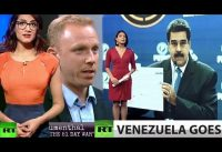 Soviet-Chow de Periodistas Militantes de Rusia Today en Venezuela.-