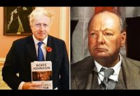 Boris Johnson analiza dos frases de Winston Churchill.-