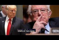 """TRUMP *hunde* a Bernie Sanders en su asiento: """"Estados Unidos JAMAS sera SOCIALISTA"""".-"""