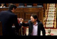 Izquierda vs derecha en el parlamento Español. Compacto investidura.-