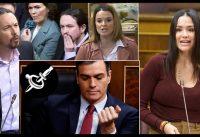Parlamento Español: Féminas Salvajes de Cs, PP y Vox Atacan a Pablenin y Fake Sánchez.-