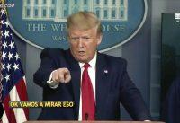 Trump peleandose con periodistas por los TESTS rápidos para el #COVID-19