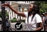 "Mujer Negra Encara a Manifestantes Pro-Black Lives Matter: ""Los Racistas son Uds! Hipócritas!"""