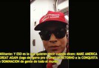 Batalla en el METRO! Inmigrante Pro-Trump vs Militante Anti-Trump.-