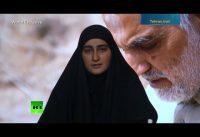 Lideres de la teocracia irani y la hija de Soleimani, felices de que Trump deje la Casa Blanca.-