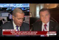 Veterano de Afganistán destroza a la administración Biden y a los periodistas de MSNBC