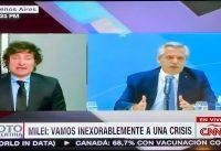JMilei discute con periodistas de CNN por sus techos de cristal y cupos climáticos...